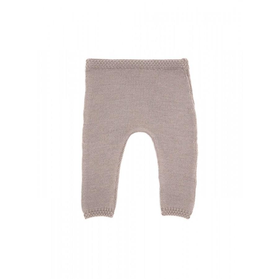Pantalon prématuré laine mérinos taupe made in France Mistricotine