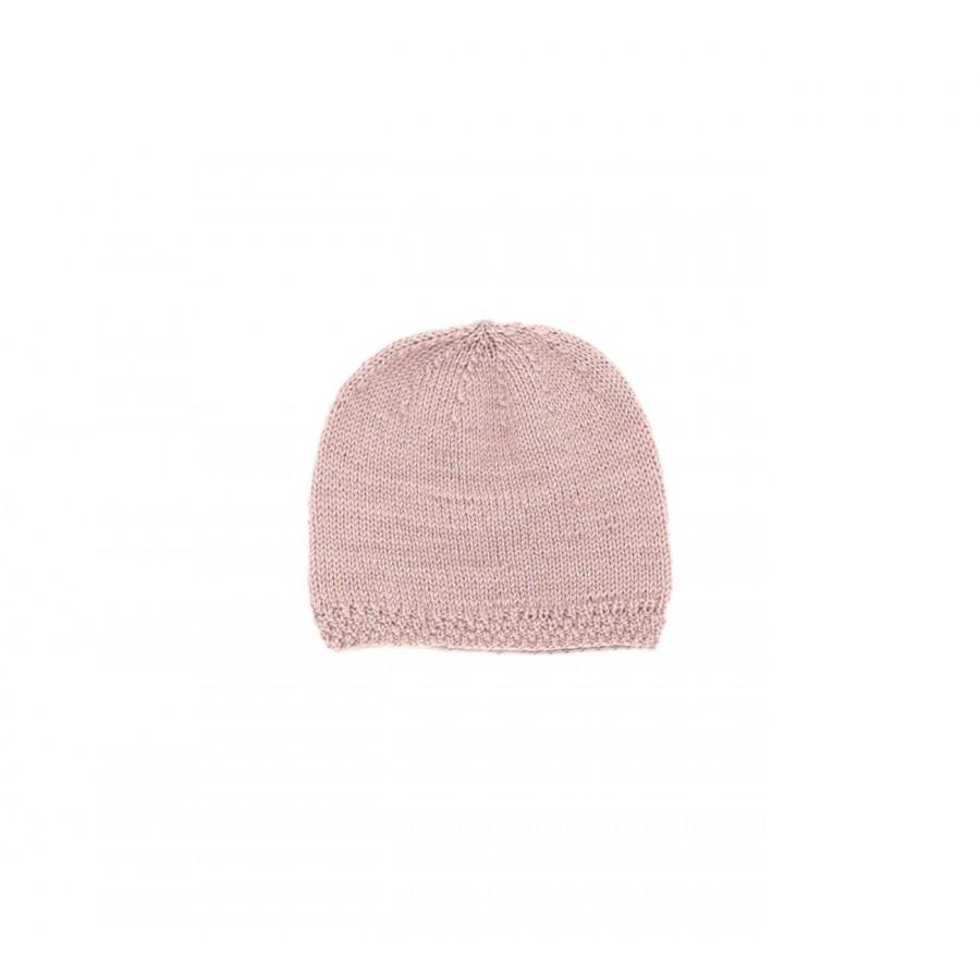Bonnet laine bébé, bonnet bébé rose, bonnet de naissance, bonnet bébé tricoté main, bonnet tricot bébé
