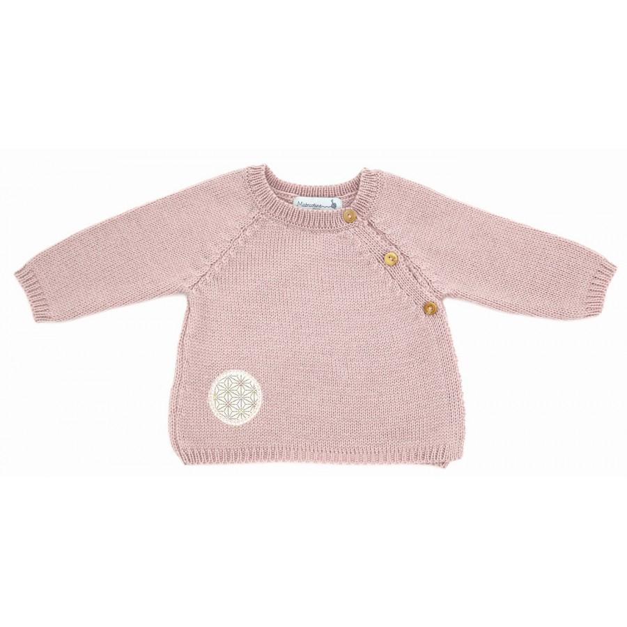 brassiere prema laine merinos tricot rose