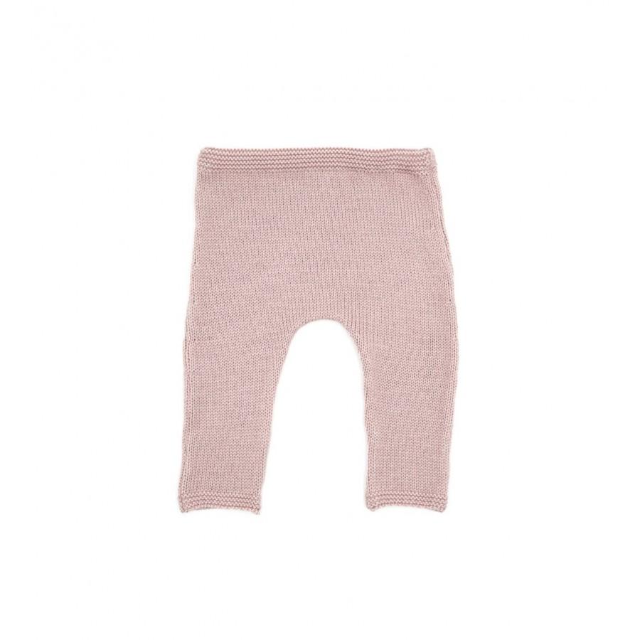 Pantalon prématuré laine mérinos rose