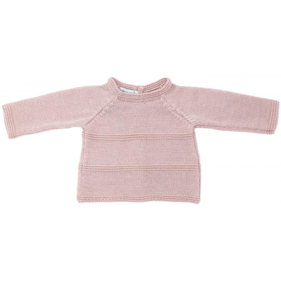 Brassiere prématuré laine merinos tricot rose