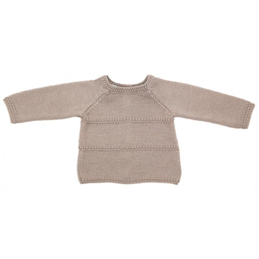 Brassiere de laine naissance, brassière bébé taupe, brassière naissance 1 mois, brassière en laine bebe, brassière bb mérinos