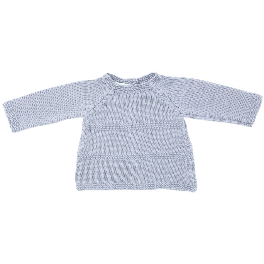 Brassière naissance laine mérinos gris made in france