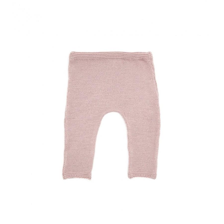 Pantalon bébé 1 mois, laine mérinos rose, pantalon bébé tricot, layette laine