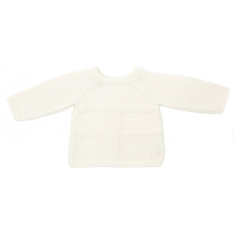 Brassiere de laine naissance, brassière bébé 3 mois écru, brassière naissance, brassière en laine bebe, brassière bb mérinos