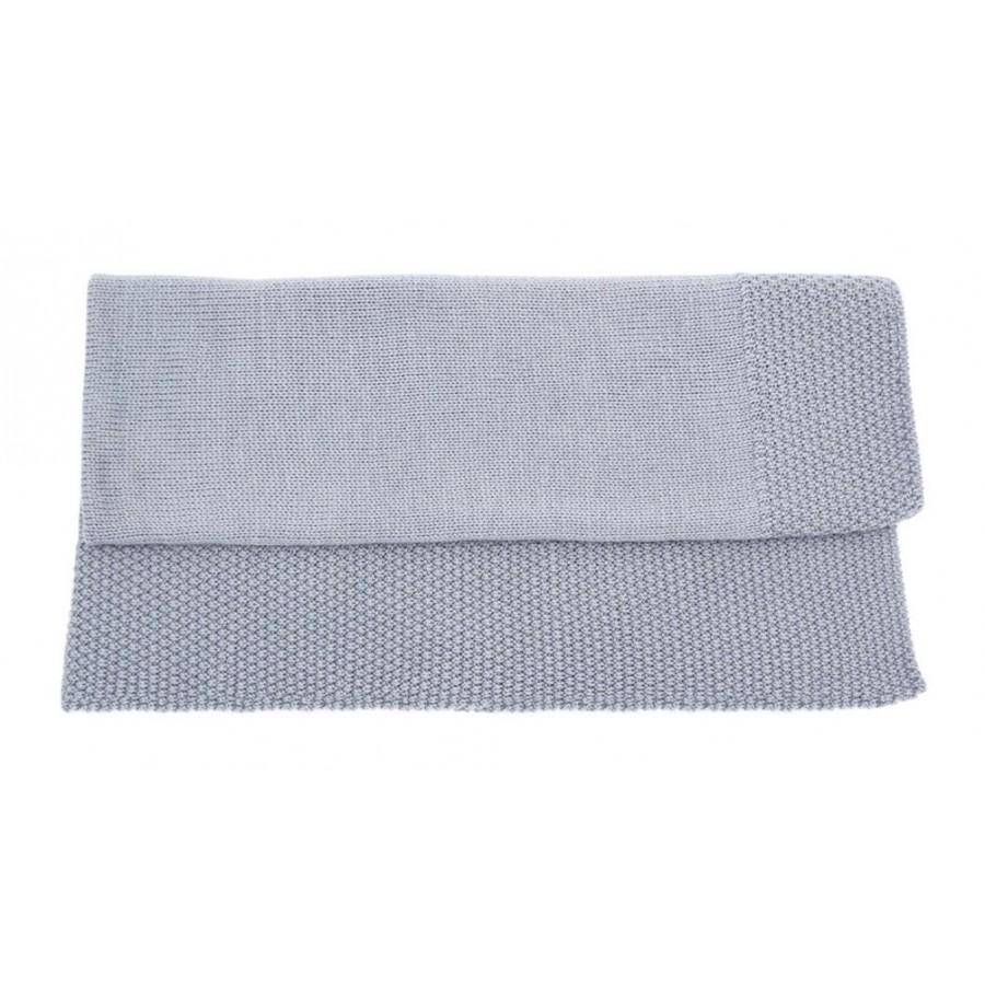 Couverture laine bebe 100% merinos gris