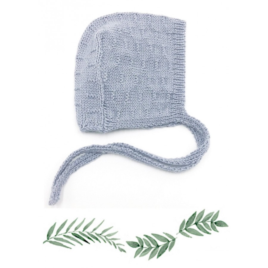 Bonnet Béguin Bébé tricoté en Laine mérinos