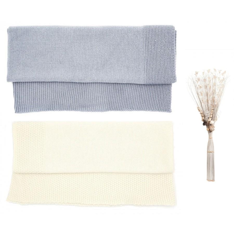 Coffret Naissance made in France deux couverture laine