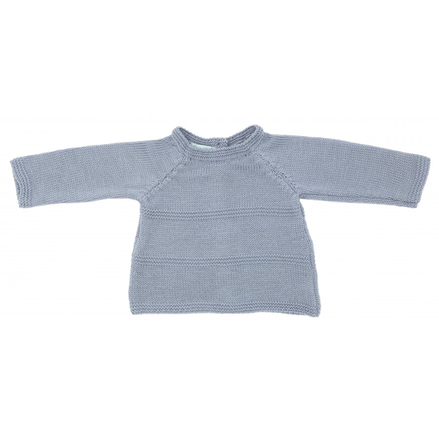 Brassière prématuré en laine mérinos gris