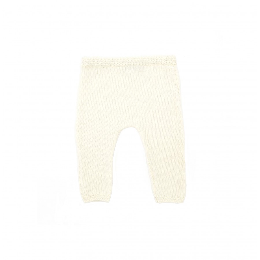 Pantalon prématuré 100% mérinos 100% made in France écru